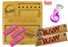 Raw Magnetic Tray with Raw Rizla Classic Rolling Papers Smoking Pink Dam Grinder