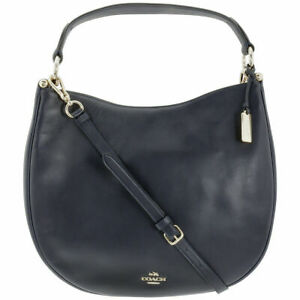 Coach Glove-tanned Leather Hobo Bag Navy 36026 NWD