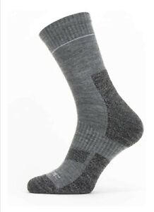 SealSkinz Socks Unisex Solo Quickdry Mid - Grey Sports Outdoor Hiking Shooting