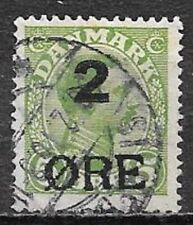 Faroe Island, 1919, Christian X, 2 øre on 5 øre