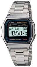 Orologio CASIO A158WA-1DF Uomo Donna Unisex VINTAGE Classico Acciaio Sveglia DSI