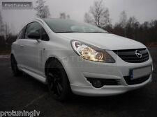Opel Vauxhall Corsa D 06-10 Front Bumper spoiler lip Valance addon opc gsi gtc