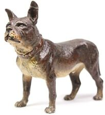 Antique Austrian Cold Painted Staffordshire Bull Terrier Bulldog Figure c1900