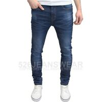 Westace Men's Designer Branded Stretch Slim Fit Straight Leg Jeans, BNWT