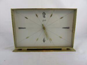Seltene Schatz Kamin Uhr Tischuhr aus Messing