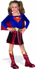 Supergirl Girls Child Kids Youth Deluxe Superman Costume w/ Cape