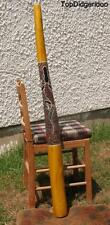 "51""130cm DIDGERIDOO+Bag+Beeswax Mouthpiece * Teak Wood Native Dot-Paint Artwork"