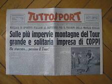 FAUSTO COPPI VINCE TAPPA SESTRIERE TOUR DE FRANCE 1952 TUTTOSPORT 7/7/52