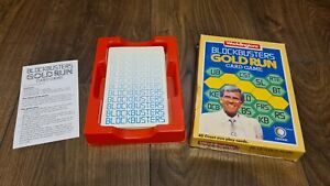 1985 BLOCKBUSTERS GOLD RUN Vintage British Card Game Bob Holness Complete