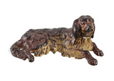 Austrian Cast Iron Polychrome Dog Figurine, circa 1920