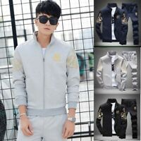 Jacket+Pants Sport 2pcs Sportswear Men Tracksuit Athletic Jogging Set Casual