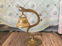 Vintage Brass Serpent Snake Ornate Baroque Style by Glo-Mar Art Boho Figurine