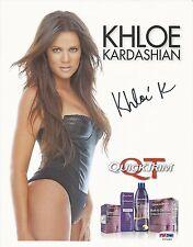 Khloe Kardashian Signed 8x11 Photo - PSA/DNA # Z53264