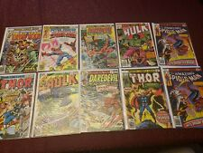 Marvel Comics Lot Of 10 Comic Books ..Hulk, Spiderman, Thor,