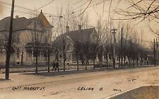 Real Photo Postcard East Market Street in Celina, Ohio~111380