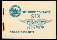 US #BKC1 61c Airmail Lindbergh Booklet with VF Centering MNH (CV $230)