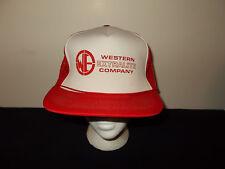 VTG-1980s Western Extralite Company rope mesh trucker snapback hat sku27