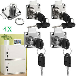 4Pcs Cam Lock Door Furniture Cabinet Letter Mailbox Drawer Cupboard Locks 16mm