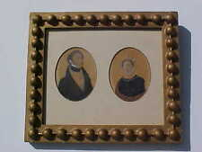 FRAMED HAND DRAWN PORTRAITS of 1800's ARISTOCRATS FRANZ & ANNA LISSIGNOLO