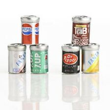 Dollhouse Miniature Soda Cans, pkg of 6 #2306-19