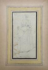 Dessin ancien, Mine de plomb, Portrait de femme, XIXe