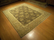 8 x 10 Hand Knotted Handmade Oushak Rug Vegetable Dyes Hand Spun Soft Fine Wool