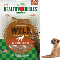 DOG CHEW Edibles Wild Venison Antler Treats 10 Count Deliciouse Snack