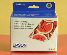 Epson T008201 Color Ink Cartridge Printer Stylus Photo 01/2015 Made in Japan