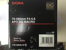 Sigma DG 70-300mm f/4-5.6 APO DG Lens For Nikon D40 D60 D3000 D3200 D5000 D5500