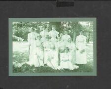 Nostalgia Postcard Royal Holloway College Ladies Cricket Team 1898
