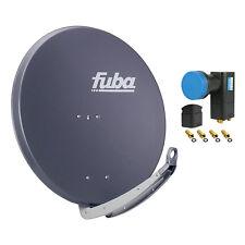 FUBA DAA 850 A + Opticum Quad LNB SAT Spiegel Schüssel anthrazit Antenne 85 cm