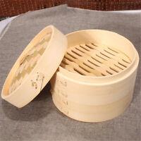 Panier à vapeur en bambou avec amortisseur pour boulettes de viande