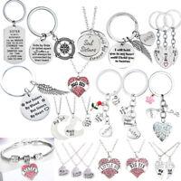 Best Friends Sister Pendant Necklace Friendship Bracelet Jewelry Women Girls