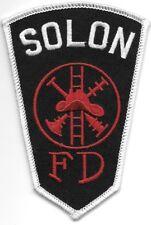 """Solon  Fire Dept., Ohio (3"""" x 4.5"""" size) fire patch"""