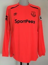 EVERTON 2017/18 L/S HOME KEEPERS JERSEY BY UMBRO SIZE ADULTS XXL BRAND NEW