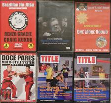 Renzo Gracie Brazilian Jiu-Jitsu Freddie Roach Boxing Training Stitch Duran Dvd