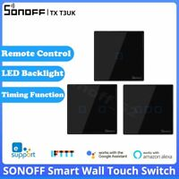 SONOFF T3UK Smart WiFi Wall Touch Switch Glass Panel APP/RF Remote Control Light