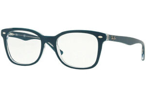 NEW  Ray-Ban RX5285 5763 Turquoise/Transparent Eyeglasses Frames 53-19-145