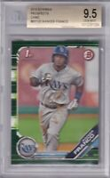 BGS 9.5 GEM MINT 2019 BOWMAN 1ST CAMO PARALLELS RC WANDER FRANCO TAMPA BAY RAYS