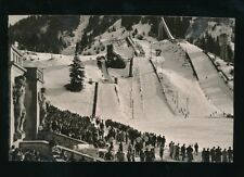 Germany Winter Sports GARMISCH Olympic Ski Jumps used 1958 RP PPC