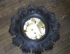 """Round Scalloped Mirror - Beautiful Unique Wall Decor - 20"""" Black - FREE SHIP!!"""