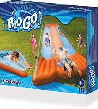 Bestway Inflatable Children Kids 5.5m H2O Go! Triple Slider Water Slide Orange