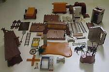 Playmobil Vintage Rare 3023 Western Fort Eagle incomplete with extras MINING