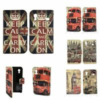 Luxury London Theme Leather Wallet Flip Book Case Cover Samsung Galaxy Ace S5830