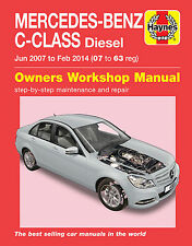 6389 Haynes Mercedes-Benz C-Class Diesel (Jun 2007 - Feb 2014) Workshop Manual