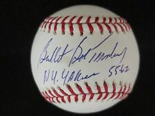 "BOB TURLEY N.Y.YANKEES  SIGNED OMLB INSCRIBED ""NY YANKEES 55 - 62"" FSC HOLO/COA"