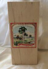Tall Wood Cigar El Triunfador TATUAJE Box EMPTY Slide Lid Stash Box Crafts