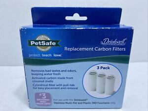 Shelf Wear/Inopened PetSafe Drinkwell 360 Carbon Filters 3 Pack PAC00-13712