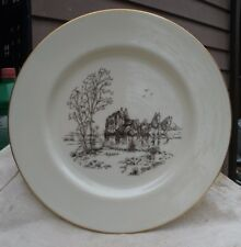 vintage Lenox Collector Plate,Stage Coach & horses scene,ivory china,gold leaf