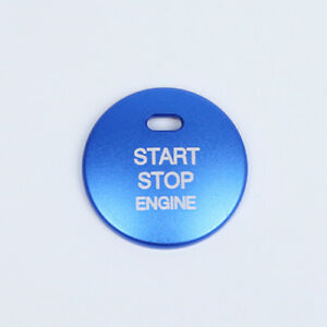 Blue Engine Start / Stop Push Button Cover Trim for Mazda 3 MX-5 Miata 2012-2018